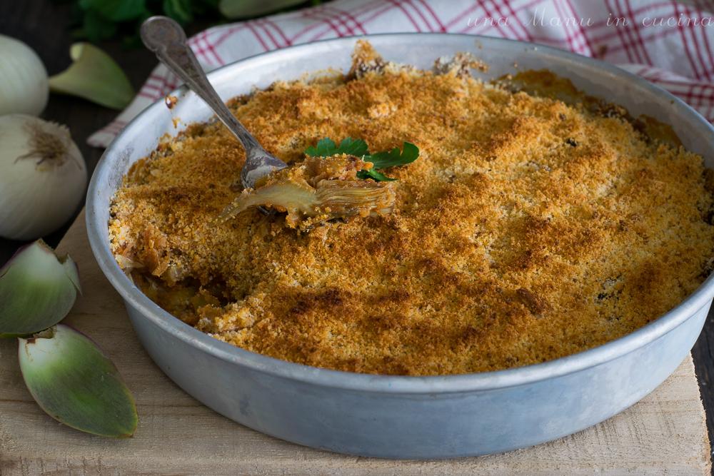 Carciofi a sfincione - ricetta tipica siciliana - Una Manu in cucina