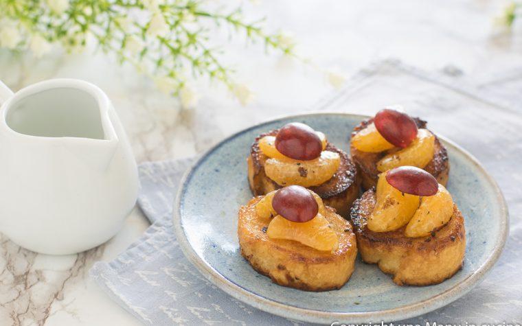 Pane fritto con la frutta (pain perdu)