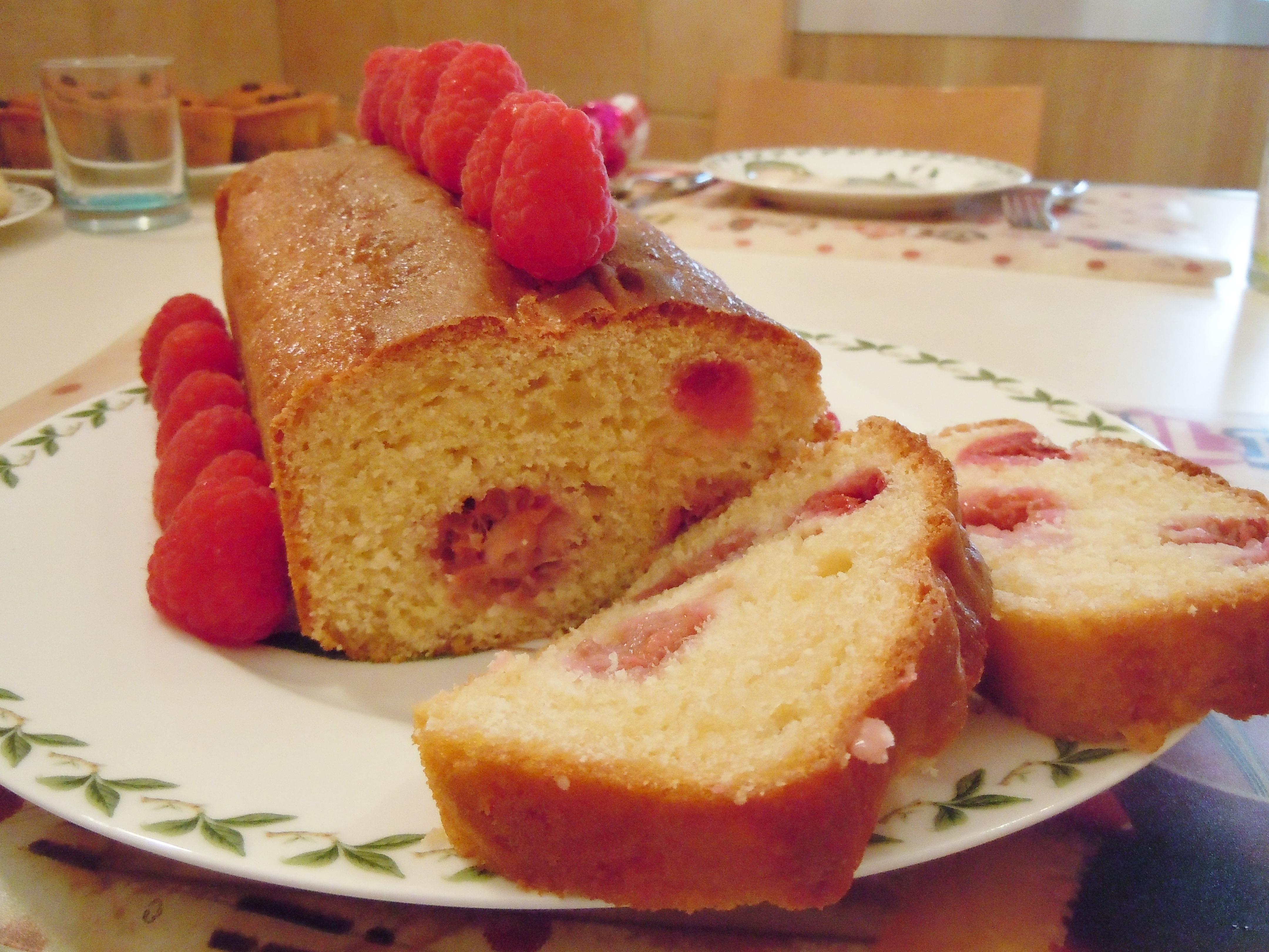 Plum Cake ai Lamponi