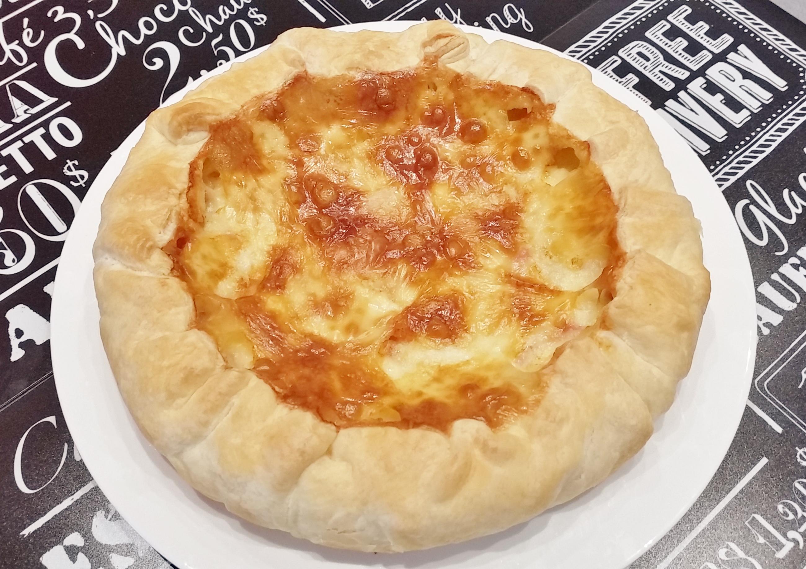 Torta Salata Patate, Taleggio e Mortadella
