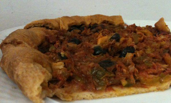 Torta salata tonno e peperoni