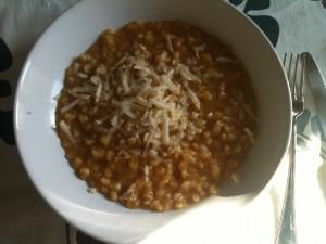 zuppa d'orzo piccante