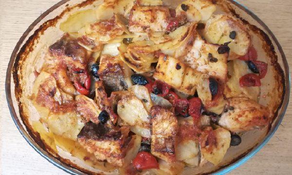 Baccalà al forno con patate saporite