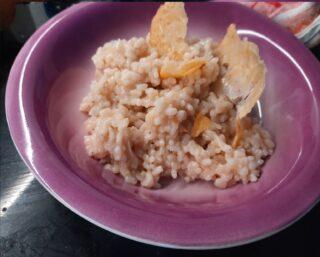 risotto al parmigiano con cialda croccante ultimato