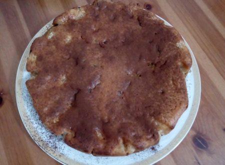 Torta di mele con gocce di cioccolato