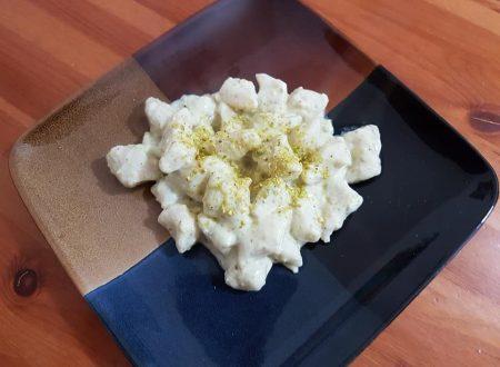 Gnocchi acqua e farina al pistacchio