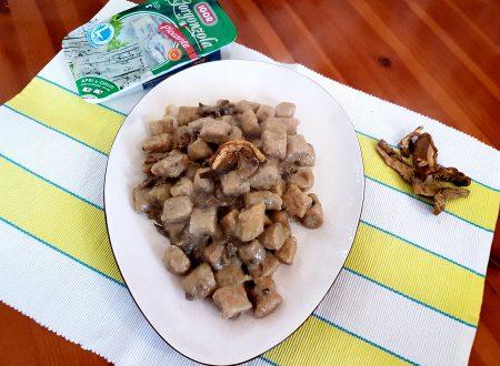 Gnocchi di farro e patate dolci, al gorgonzola