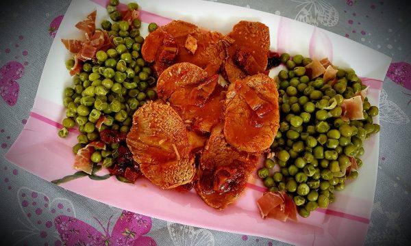 Filetto ai pomodori secchi con piselli