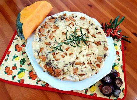Pizza di zucca in pastella al rosmarino