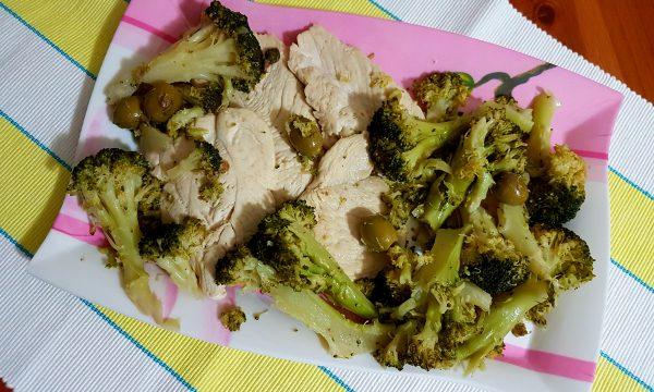 Pollo ai broccoli e olive