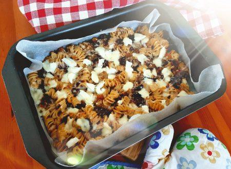 Pasta al forno con radicchio e zucca