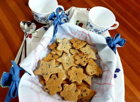 Biscotti al malto d'orzo con gocce di cioccolato
