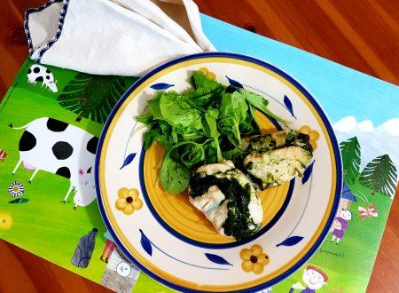 Involtini di pollo alla crema di spinaci