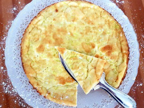 Torta salata ai porri con impasto alla farina di ceci