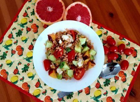 Legumotti in insalata al pompelmo rosa