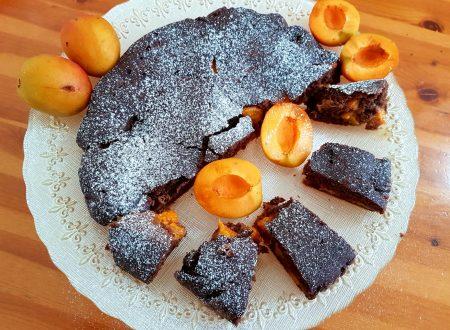 Torta all'acqua al cacao e albicocche
