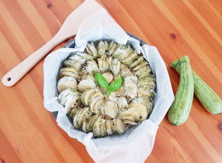 Zucchine infarinate e gratinate al forno