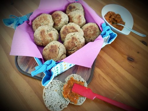Panini dolci al burro d'arachidi