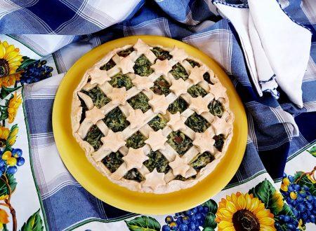 Torta salata speck, ricotta e bietole
