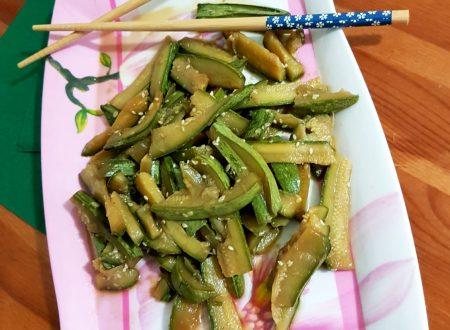 Zucchine orientali allo zenzero e sesamo