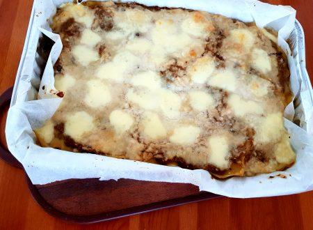 Lasagne con crema di funghi e mozzarella