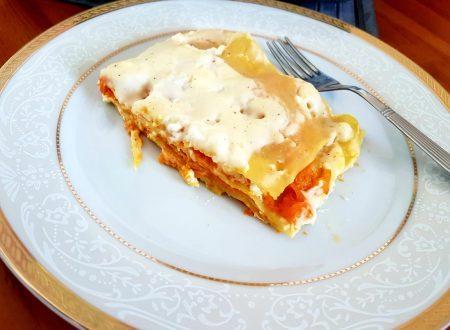 Lasagne alla zucca, feta e besciamella leggera
