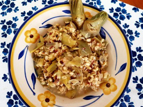 5 cereali ai carciofi e gorgonzola