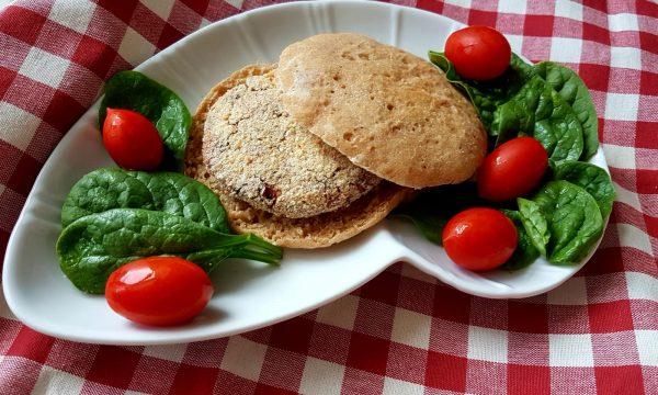 Burger di salmone e fagioli rossi