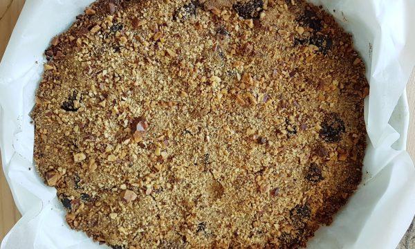 Sbrisolona senza glutine, con albicocche secche