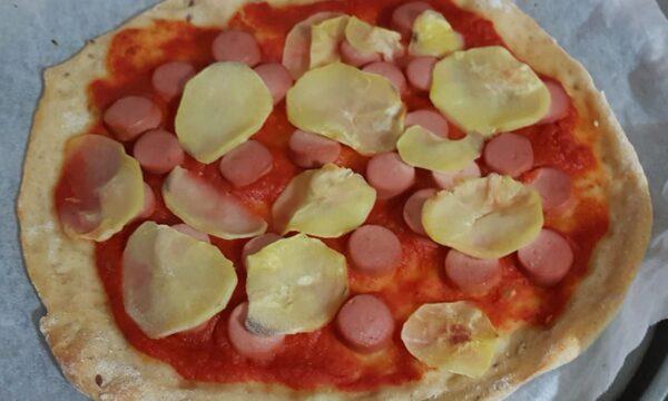 Pizza con impasto allo yogurt