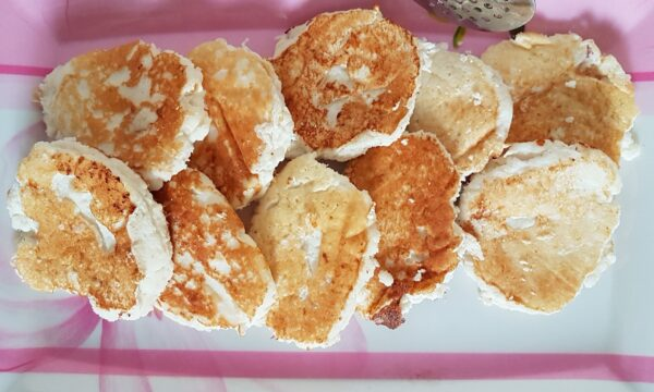 Frittelle con farina di cocco e albumi