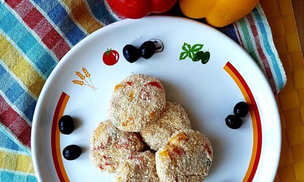 Polpette di peperoni patate e olive