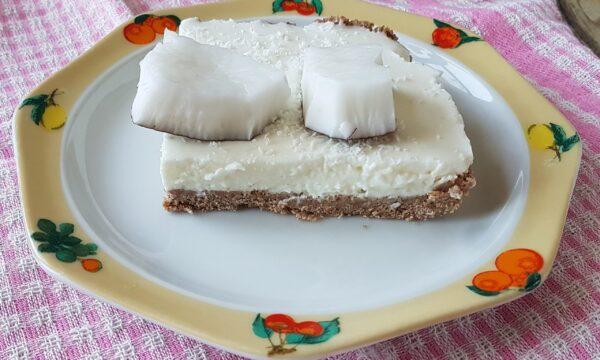 Cheesecake al cocco senza zucchero
