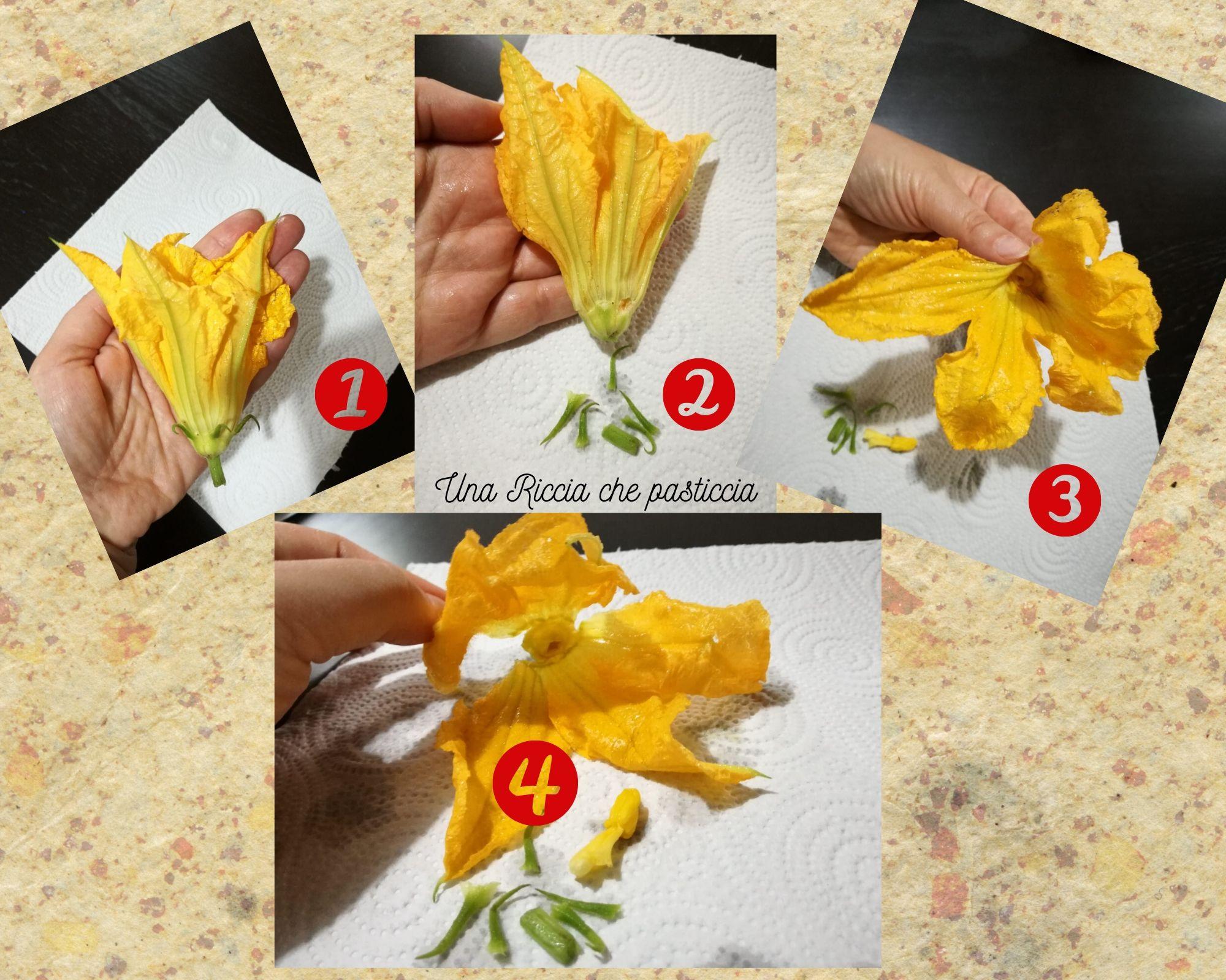 pulitura fiori di zucca