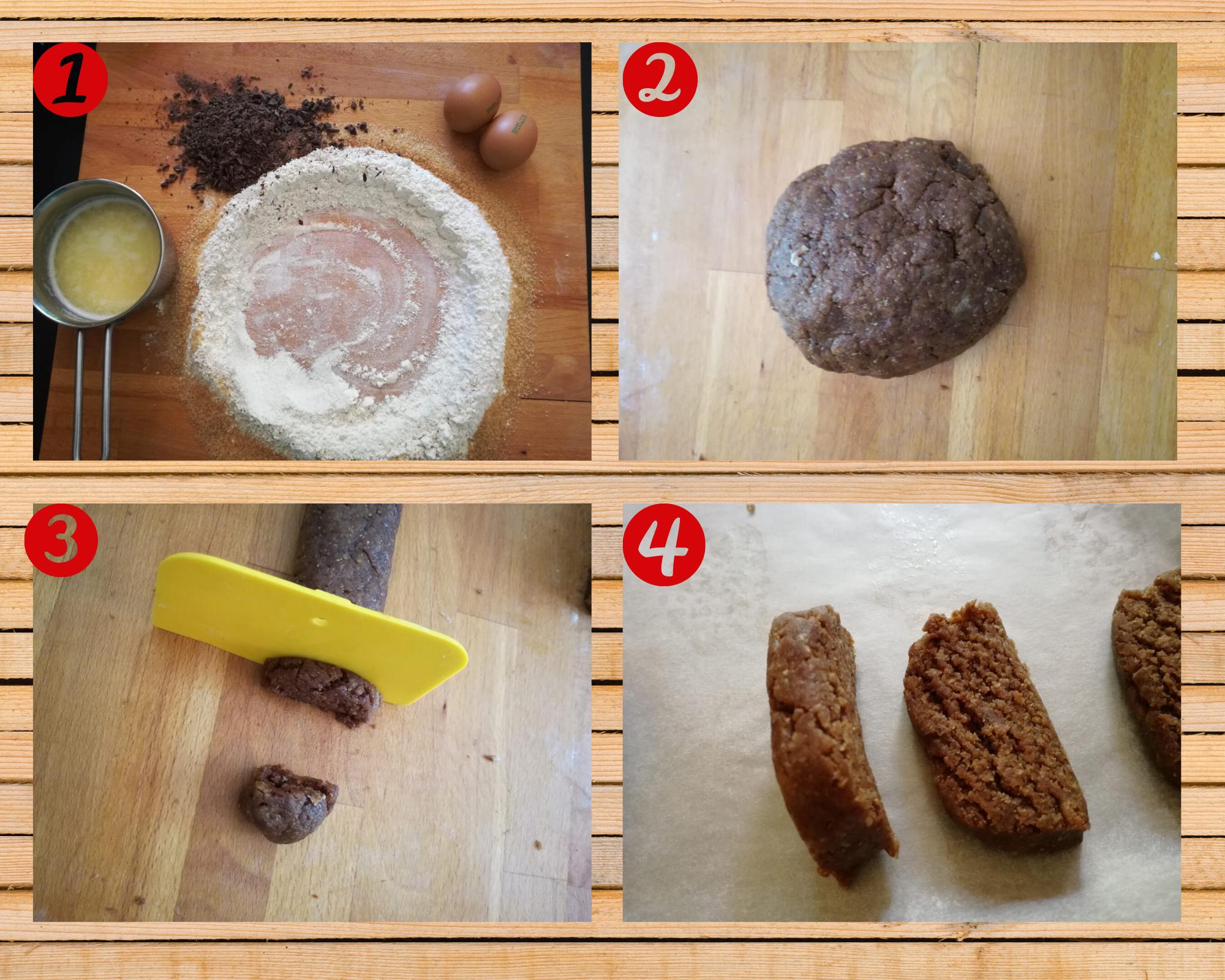biscotti integrali al cioccolato preparazione