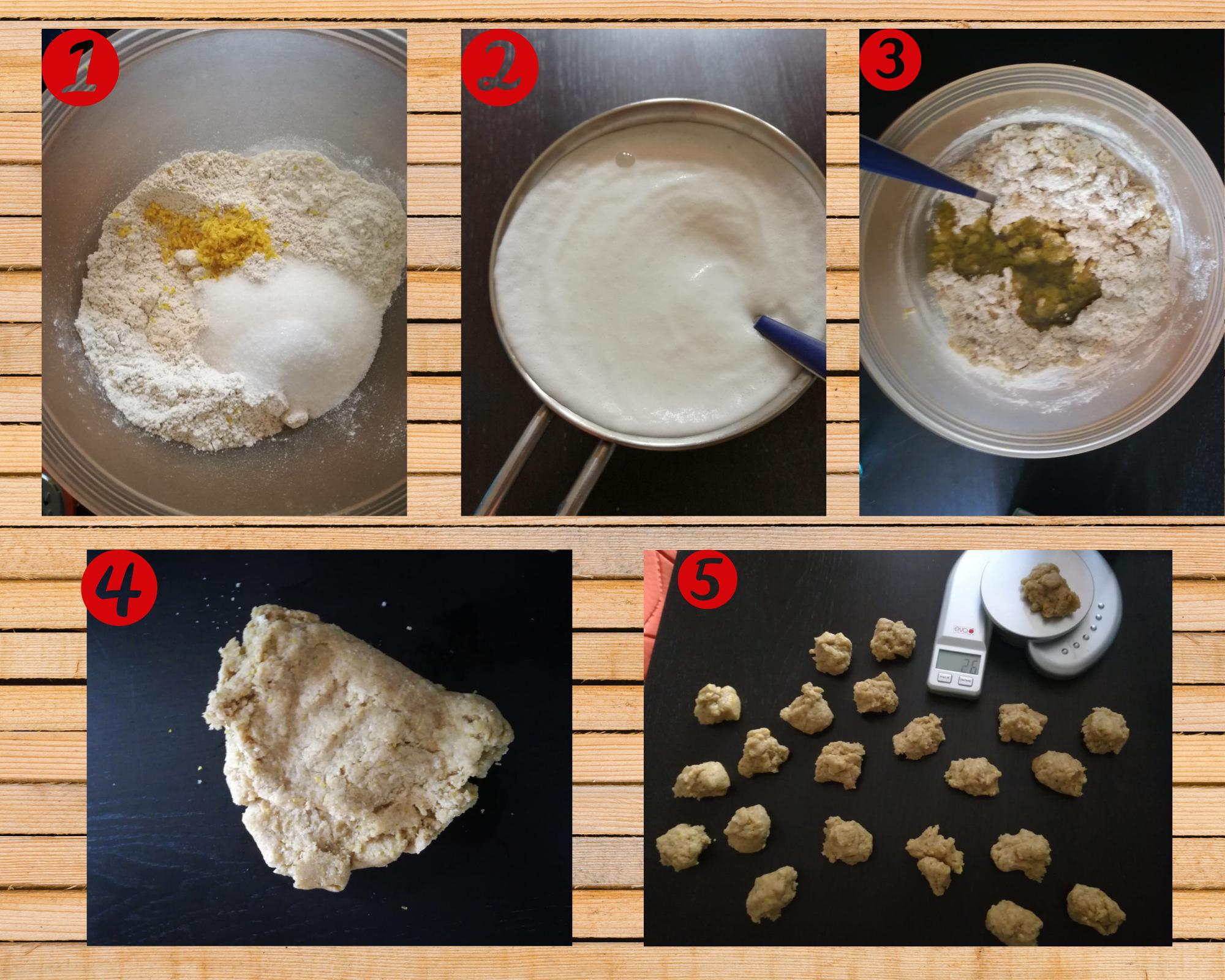 biscotti integrali preparazione 1