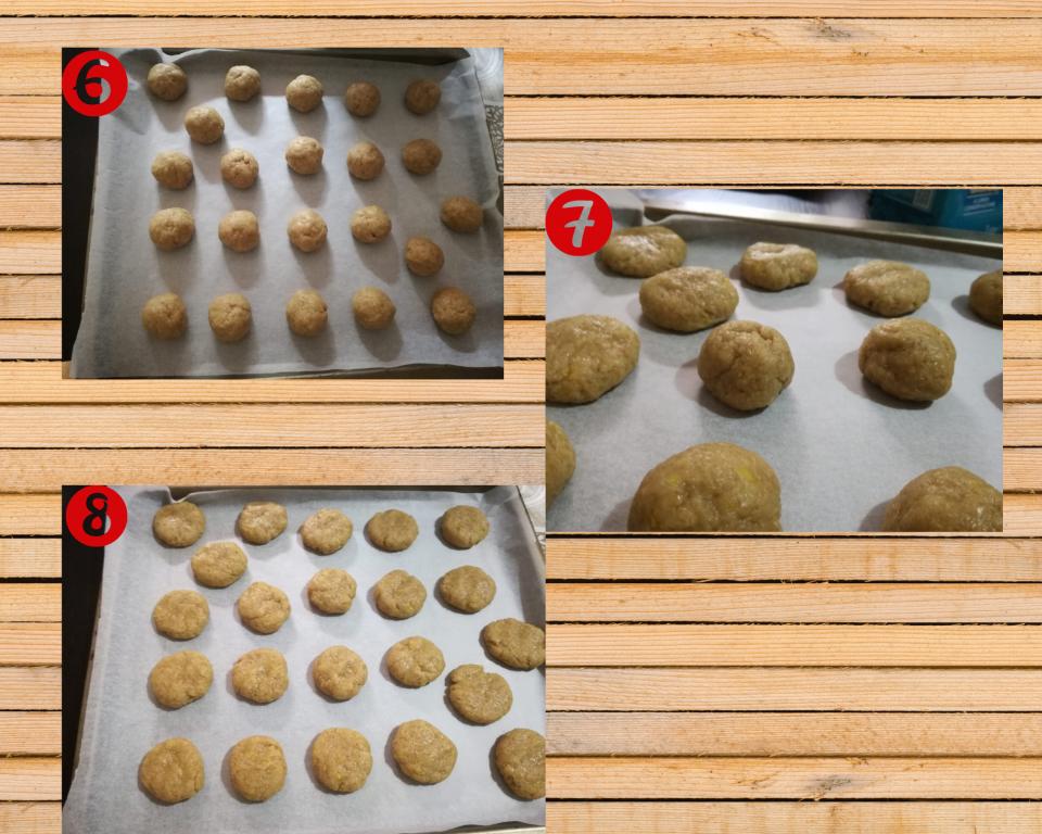 preparazione 2 biscotti integrali