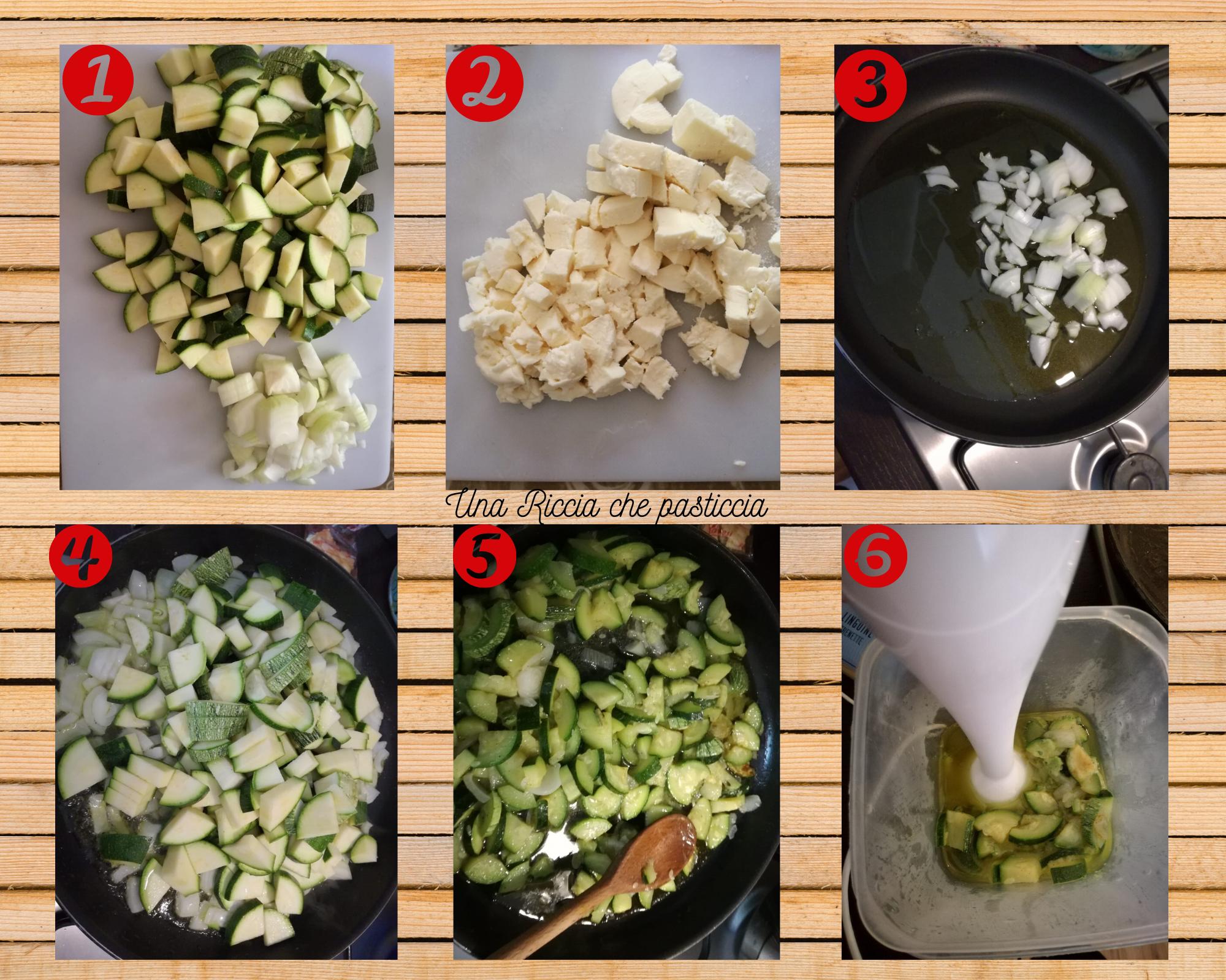 preparazione pasta al forno con zucchine