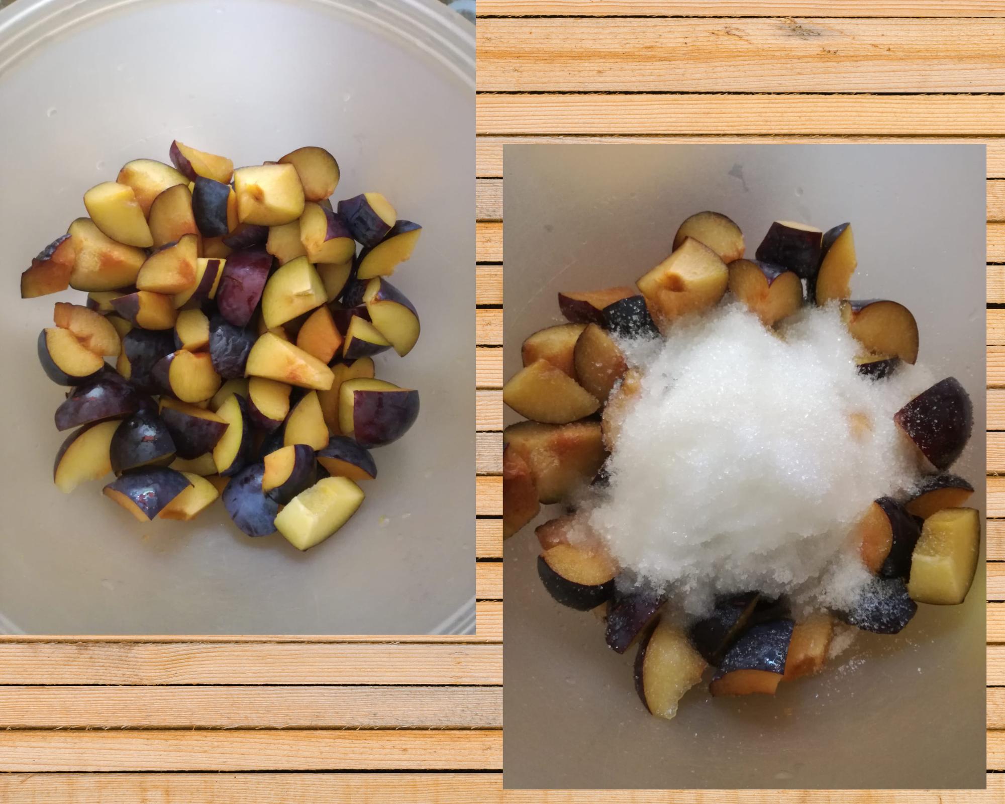 confettura di susine preparazione frutta