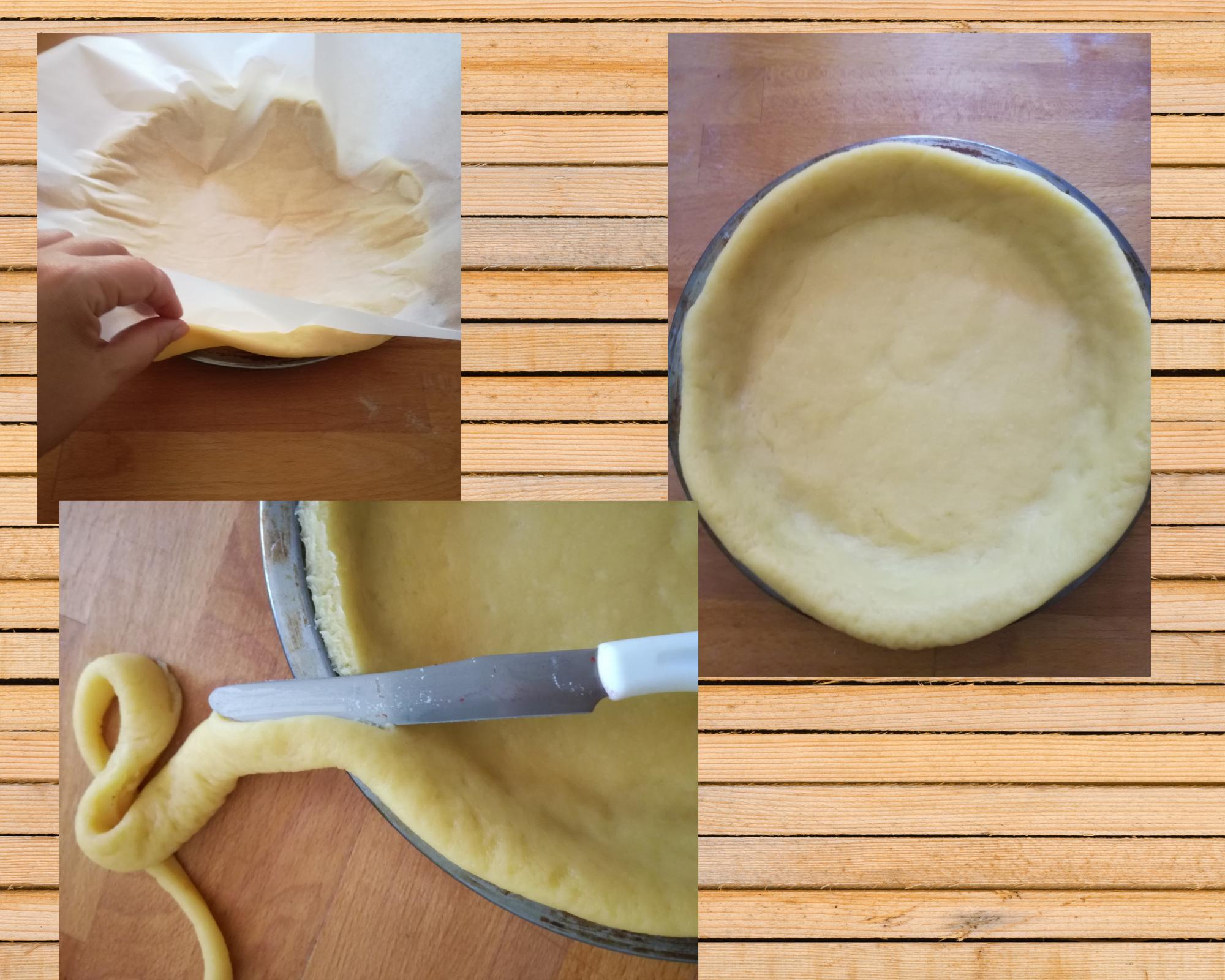 crostata coperta foderare stampo