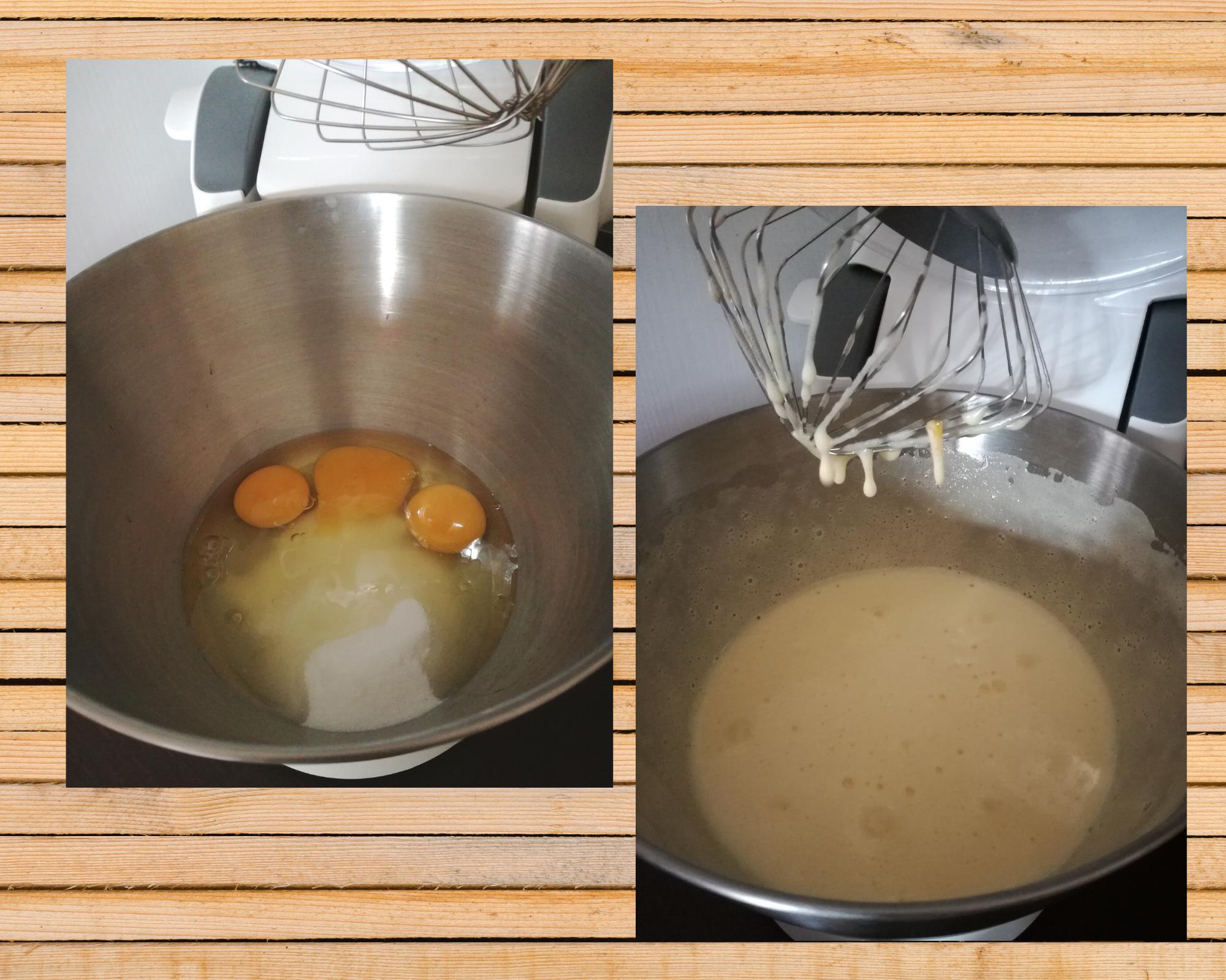 plumcake susine uova e zucchero