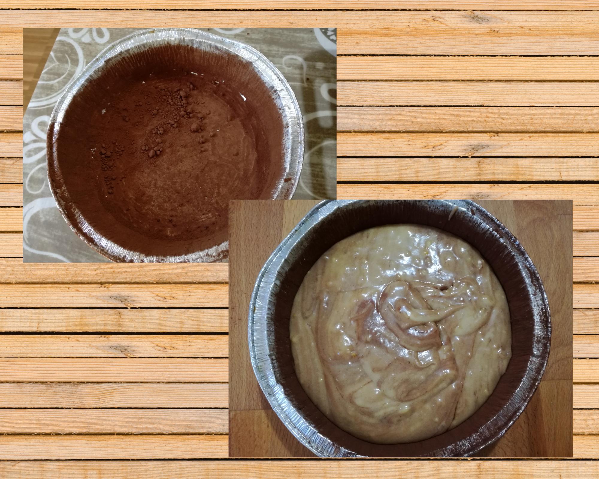 torta soffice vaniglia cannella e cacao stampo