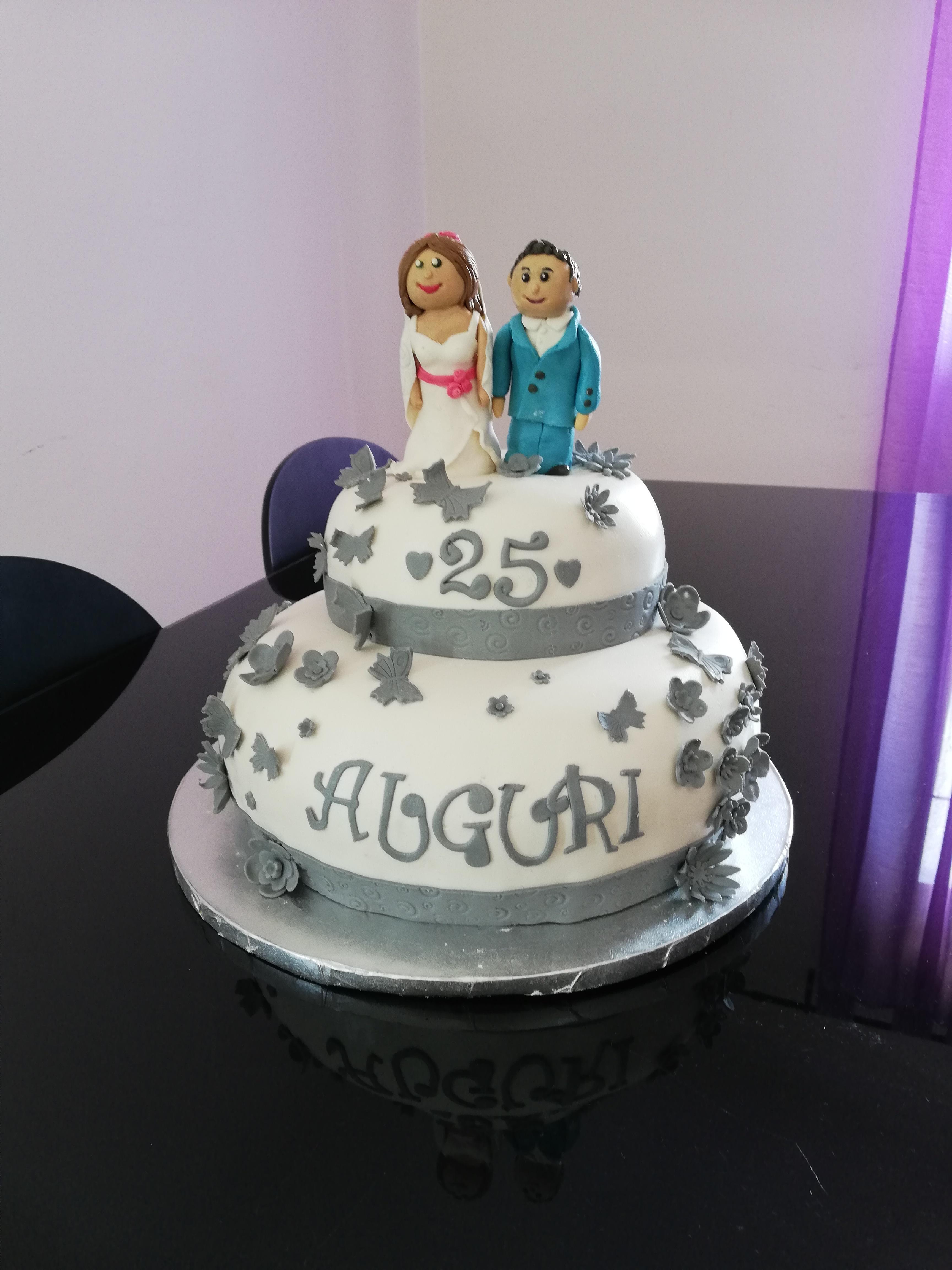 Torta Per Anniversario Di Matrimonio Giallo Zafferano.Torta 25 Anniversario In Pdz A Piani Una Sarda In Cucina