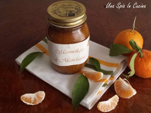 Marmellata di mandarini e zenzero con scorze caramellate