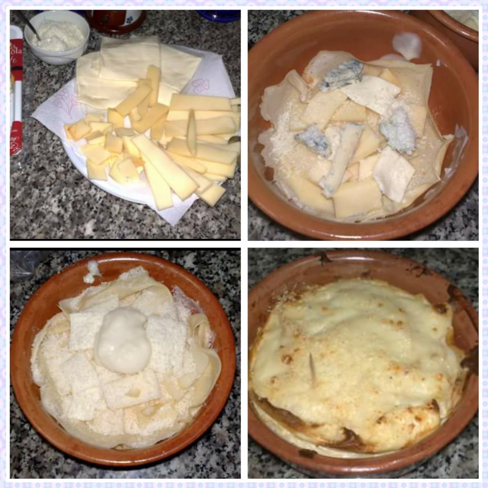 Ricetta crepes ai 4 formaggi