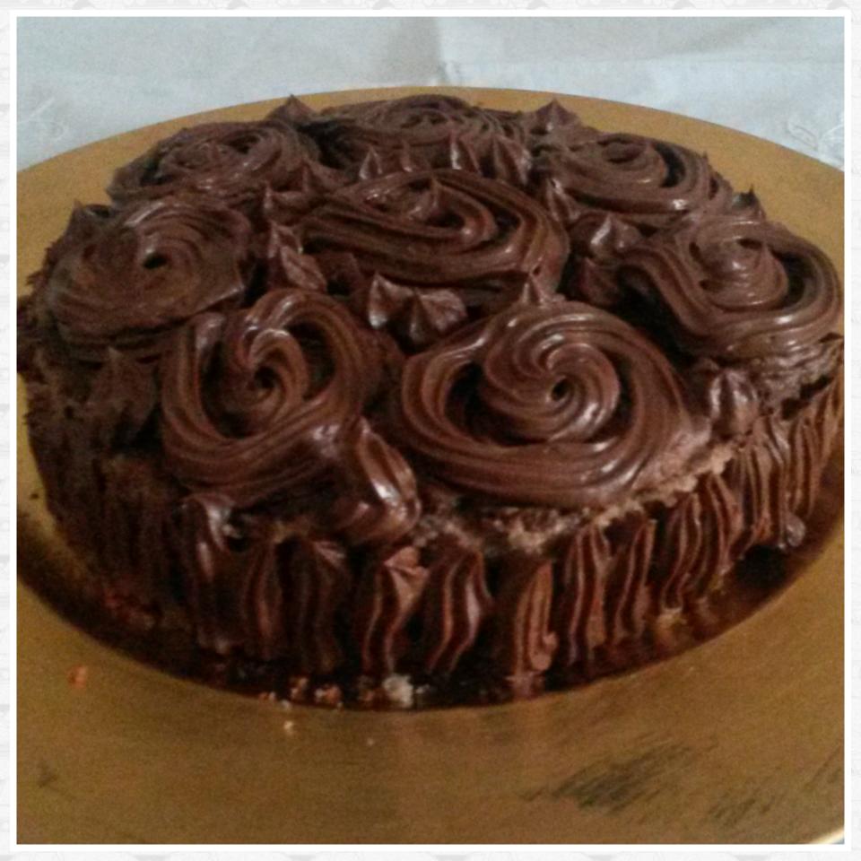 Torta al cioccolato con crema ganache