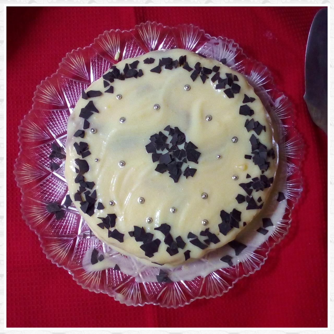 Torta di pandoro con crema