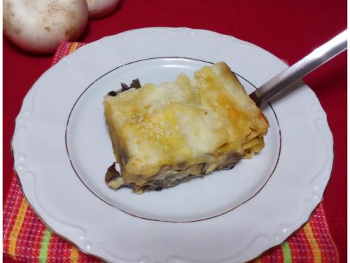 Lasagne ai funghi e formaggio