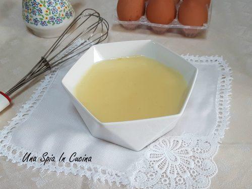 Crema pasticcera con 1 uovo morbida e vellutata