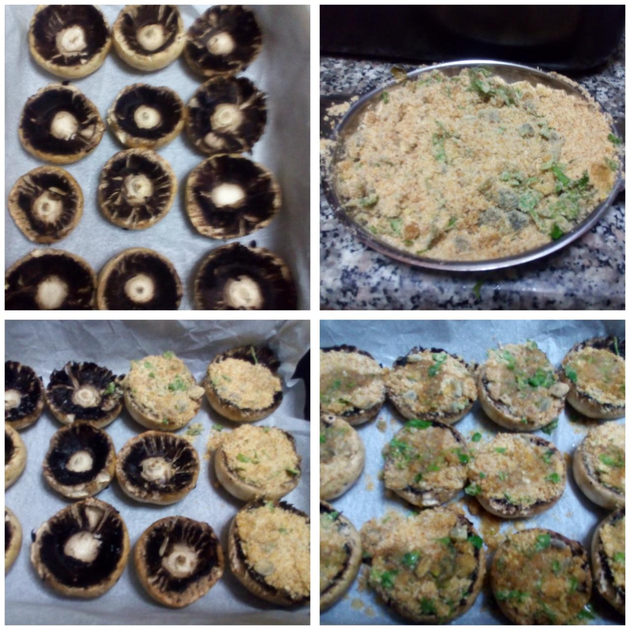 funghi champignon gratinati al forno